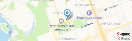 Бенефис на карте Ангарска
