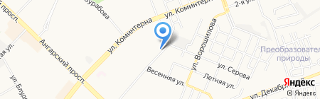 Парикмахерская № 1 на карте Ангарска