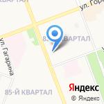 Фрегат на карте Ангарска