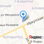 Золотая ручка на карте Ангарска
