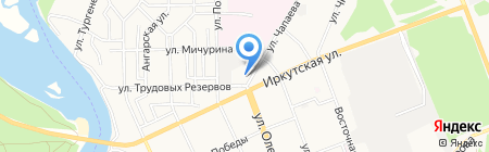 Канцлидер на карте Ангарска