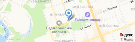 Норма на карте Ангарска