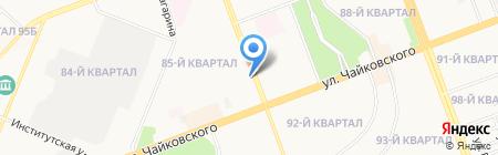 Екатерина на карте Ангарска