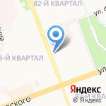 Аквамарин на карте Ангарска
