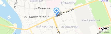 Хижина Байкала на карте Ангарска