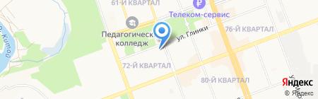Студенческая на карте Ангарска