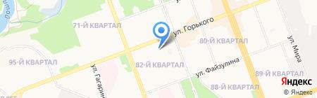 Колымская на карте Ангарска