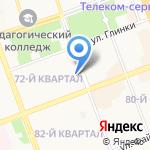 Ангарск-Артист на карте Ангарска