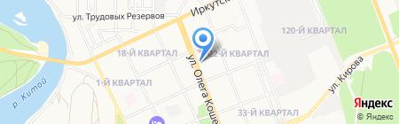 Водопровод на карте Ангарска