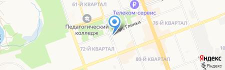 Притяжение на карте Ангарска