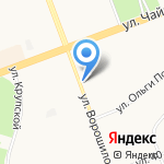 Киоск по продаже овощей и фруктов на карте Ангарска