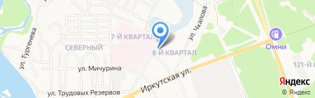 Чапаев на карте Ангарска