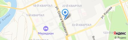 Домино на карте Ангарска
