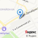Гермес на карте Ангарска