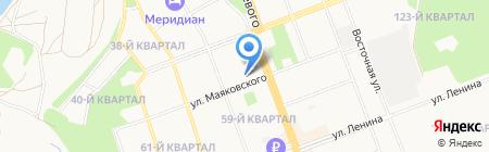 Детская художественная школа №1 на карте Ангарска