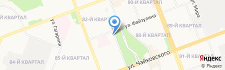 У парка на карте Ангарска