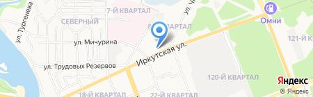 Средняя общеобразовательная школа №12 на карте Ангарска