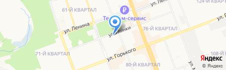 Дэлис на карте Ангарска