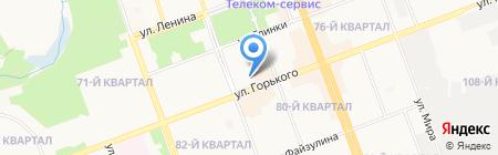 Городская поликлиника №1 на карте Ангарска