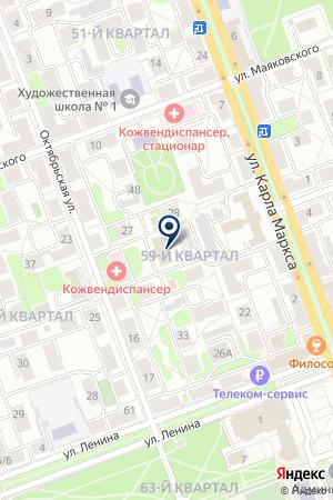 Хот на карте Ангарска