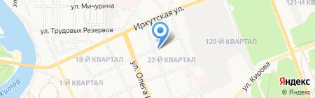 На Матросова на карте Ангарска