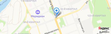Киоск по продаже хлебобулочных изделий на карте Ангарска