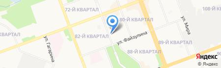Служба доставки пенсий на карте Ангарска