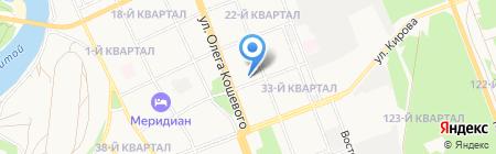 Соболь на карте Ангарска