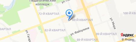 Автостоянка на ул. 81-й квартал на карте Ангарска