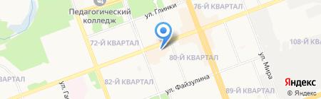 Золушок на карте Ангарска
