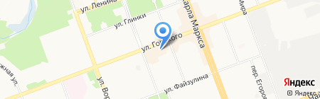 Шаппо на карте Ангарска