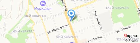 БурСиб на карте Ангарска