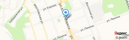 Адвокатский кабинет Кирсанова Н.И. на карте Ангарска