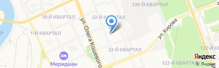 Мини-гостиница на ул.Александра Матросова на карте Ангарска