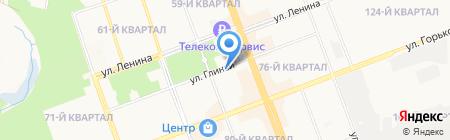 Ангарскстрой на карте Ангарска