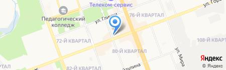 Алекса на карте Ангарска
