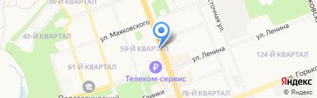 Линия уюта на карте Ангарска