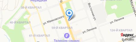 Крепость на карте Ангарска