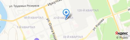 Иванов-Мебель на карте Ангарска