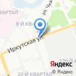 Иркутская на карте Ангарска