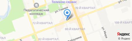 Флоранж на карте Ангарска