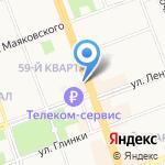 Фасон на карте Ангарска