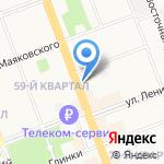 Бонжур на карте Ангарска