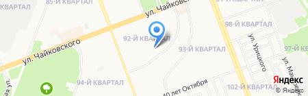 Средняя общеобразовательная школа №6 на карте Ангарска