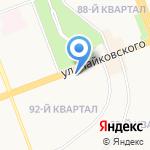 Пивной бочонок на карте Ангарска