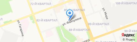 Орфей на карте Ангарска