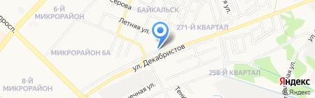 Киоск фастфудной продукции на карте Ангарска
