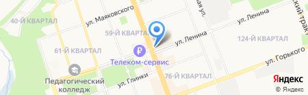 Роза на карте Ангарска