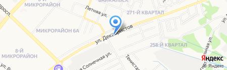 Автостоянка на карте Ангарска