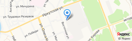Автостоянка на Восточной на карте Ангарска